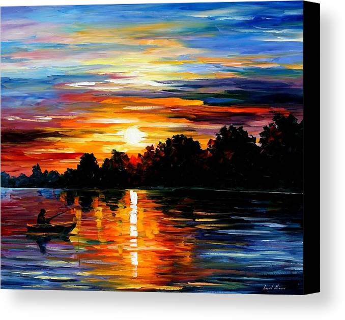Afremov Canvas Print featuring the painting Life Memories by Leonid Afremov