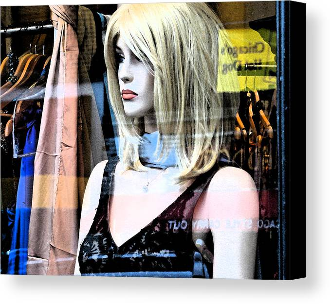 Modern Canvas Print featuring the photograph Mannequin Window 4 by Gary Everson