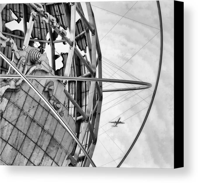 Nyc Canvas Print featuring the photograph Nyc Worlds Fair 1964 Today by Chuck Kuhn