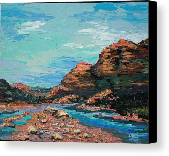Landscape Canvas Print featuring the painting Palma Canyon by Cathy Fuchs-Holman