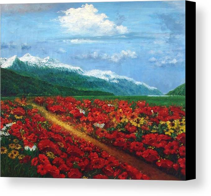 Colorful Canvas Print featuring the painting Paradise by Aziz Mohammed