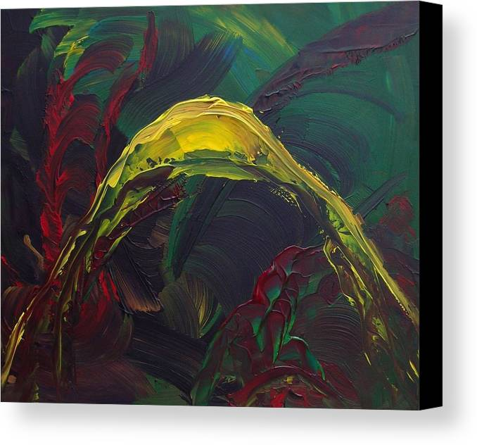 Abstract Canvas Print featuring the painting Pleasure Past by Karen L Christophersen