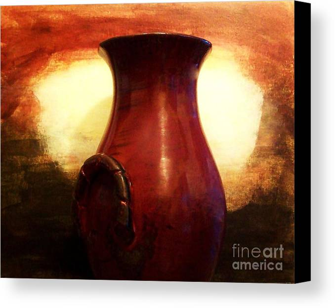 Photo Canvas Print featuring the photograph Pottery From Italy by Marsha Heiken