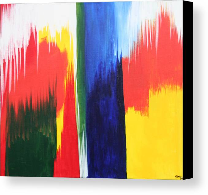 Primary Colors Canvas Print featuring the painting Primary Colors by Shiree Gilmore