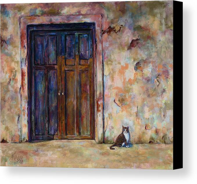 Doorway Canvas Print featuring the painting Siesta by Billie Colson