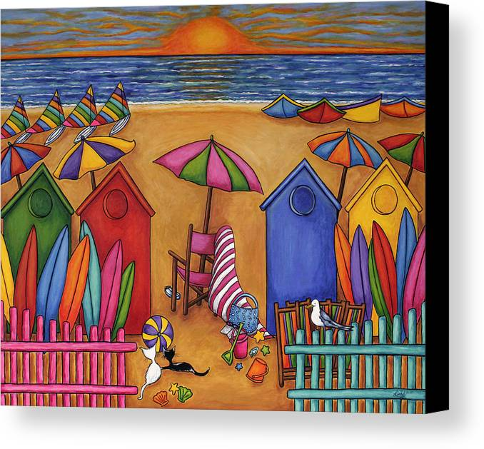 Summer Canvas Print featuring the painting Summer Delight by Lisa Lorenz