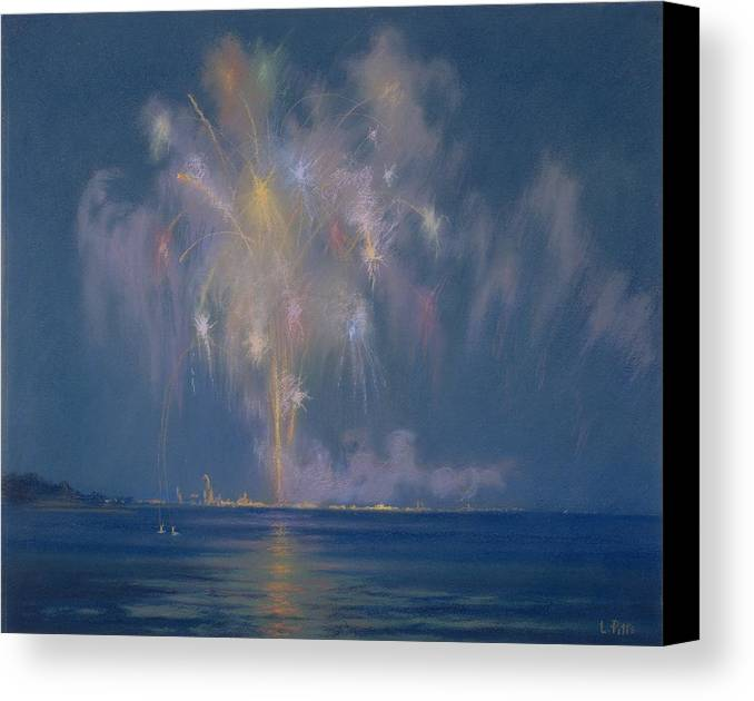 The Canvas Print featuring the painting The Grand Finale by Lendall Pitts