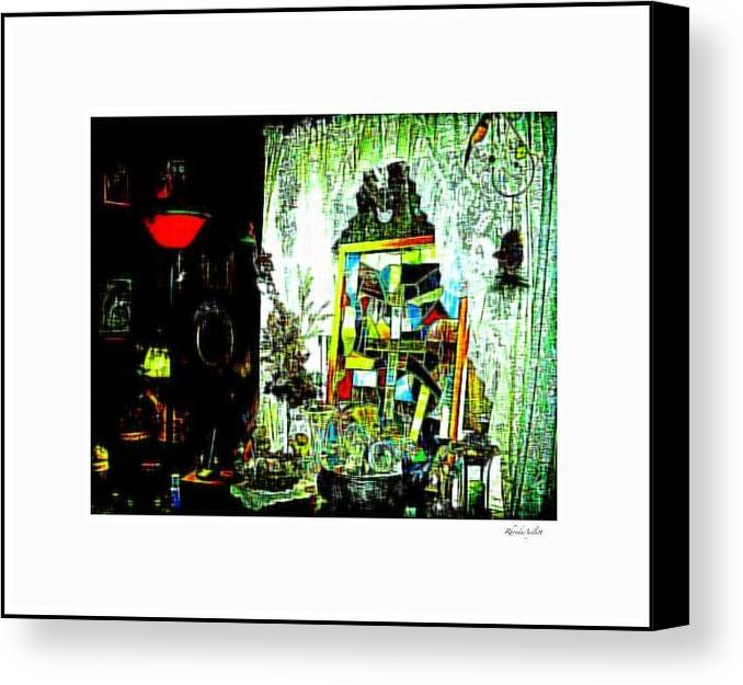 Life Canvas Print featuring the mixed media The Window by YoMamaBird Rhonda
