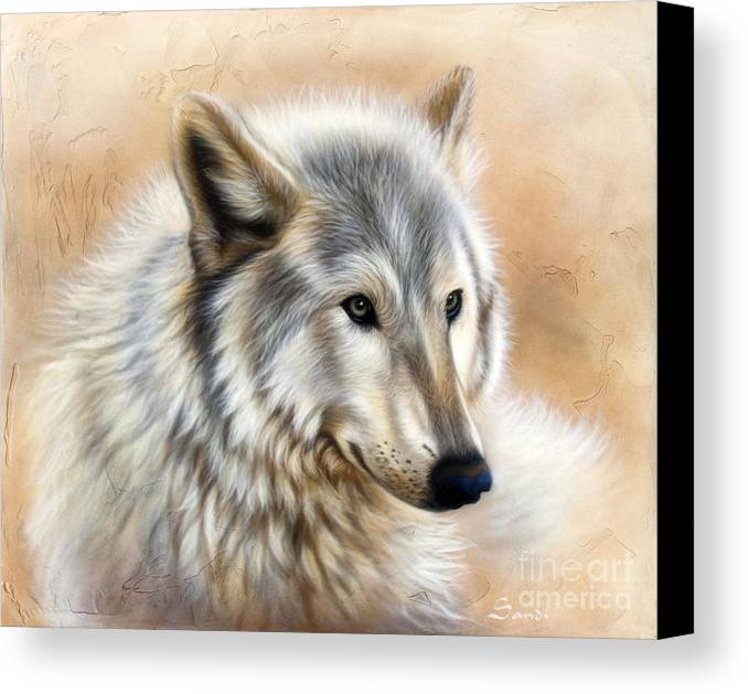 Acrylic Canvas Print featuring the painting Trace by Sandi Baker