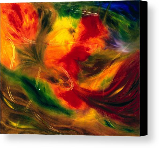 Abstract Canvas Print featuring the painting Transparence De La Vie by Dominique Boutaud