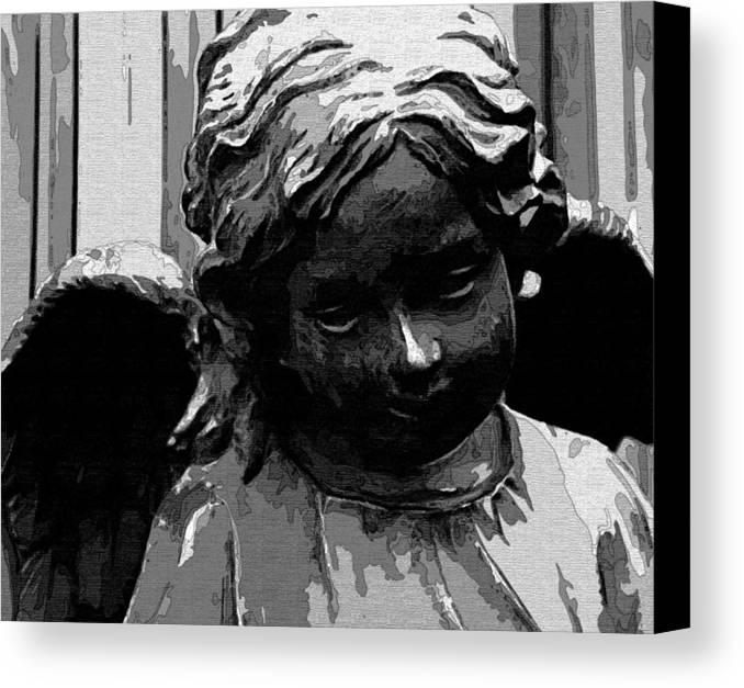 Angel Canvas Print featuring the digital art Watching Over You by Holly Ethan