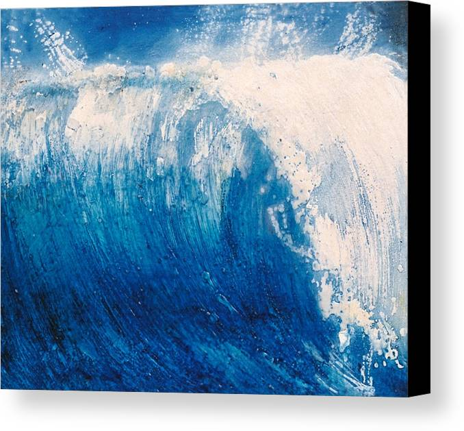 Oil Painting Canvas Print featuring the painting wave VI by Martine Letoile