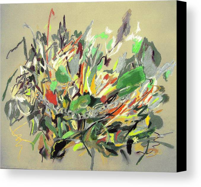 Fantasy Canvas Print featuring the painting Wild Flowers by Tadeush Zhakhovskyy