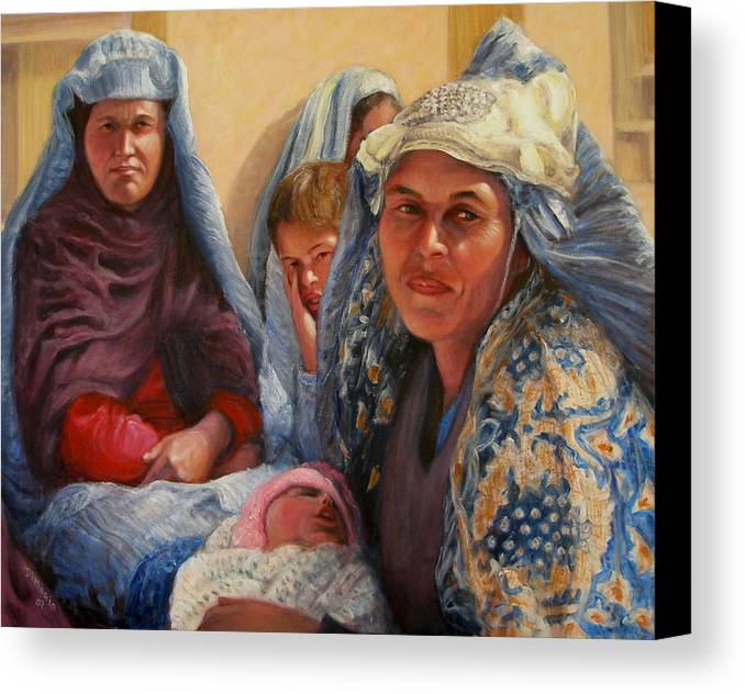 Realism Canvas Print featuring the painting Women Of War by Donelli DiMaria