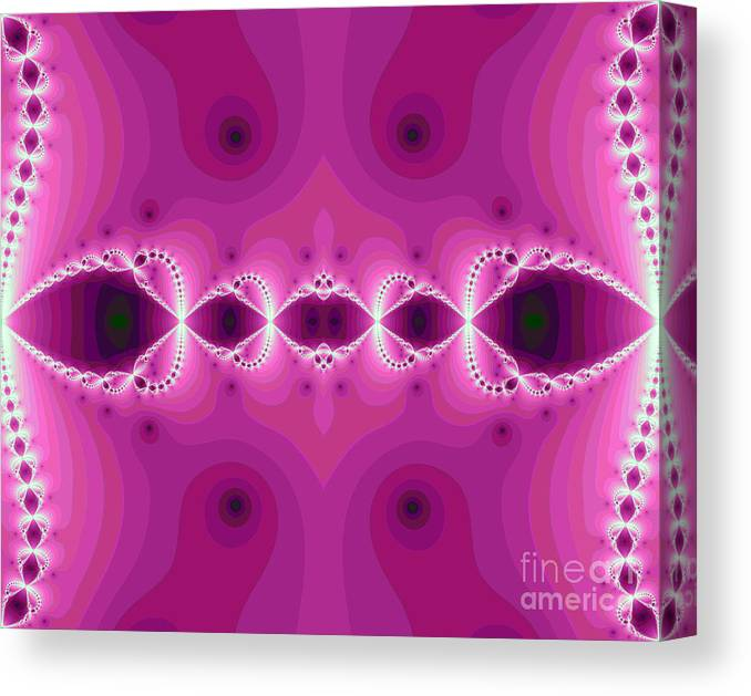 Abstract Canvas Print featuring the digital art Fantasy Fractal by Odon Czintos