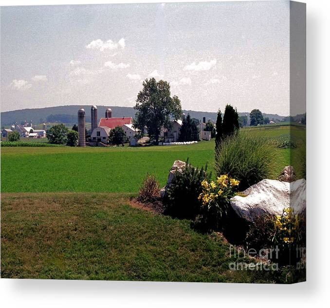 Landscape Canvas Print featuring the photograph Country Views by Timothy Clinch