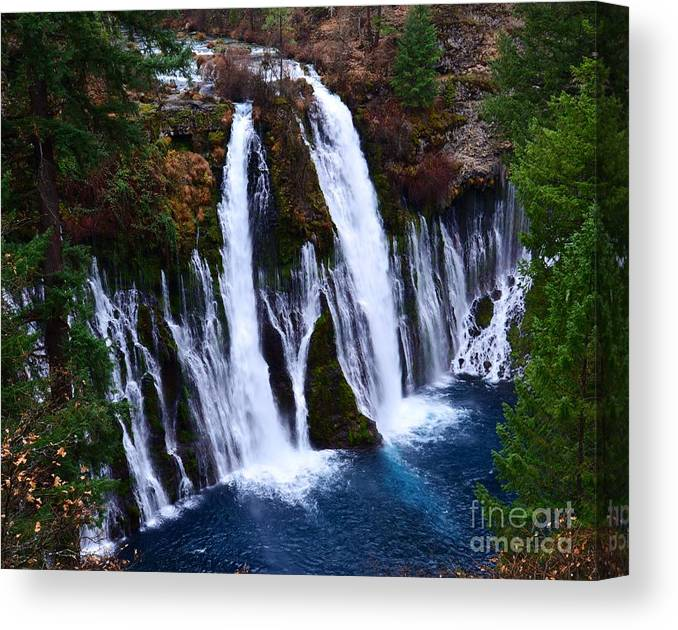 Waterfall Canvas Print featuring the photograph Falls by Lillian Singer