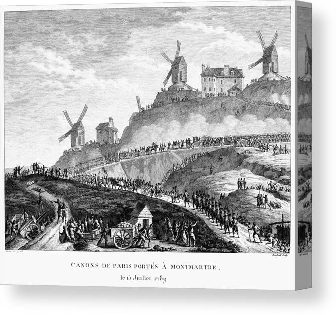 1789 Canvas Print featuring the painting French Revolution Paris by Granger