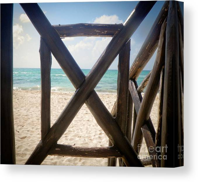 Gateway Canvas Print featuring the photograph Gateway 2 Paradise by Terry Weaver