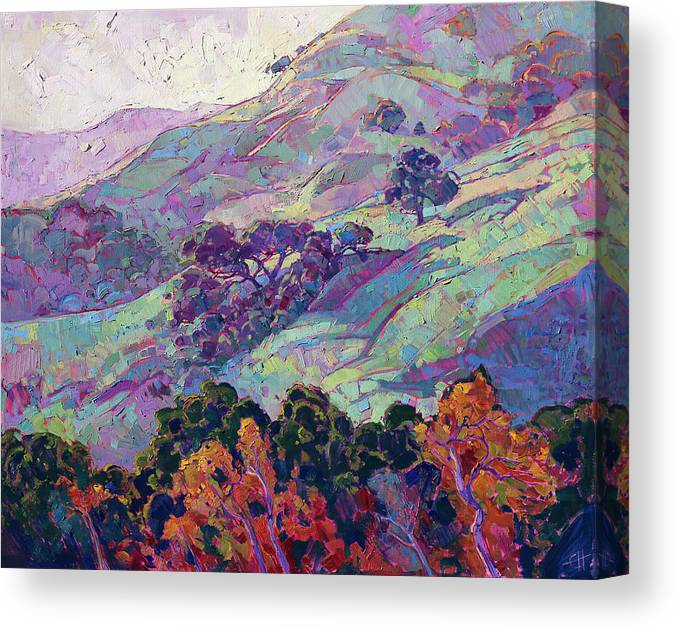 Paso Robles Canvas Print featuring the painting Morning Splendor by Erin Hanson