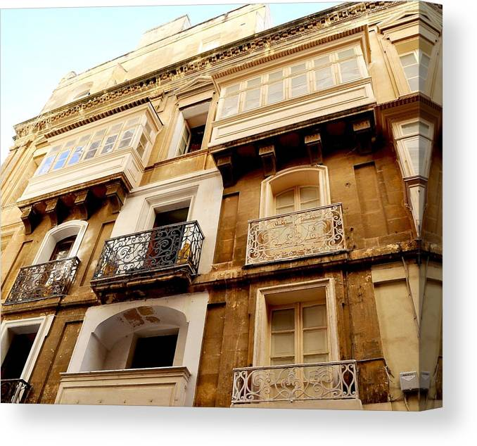 Europe Canvas Print featuring the photograph Apartment In Malta by Heather Marshall