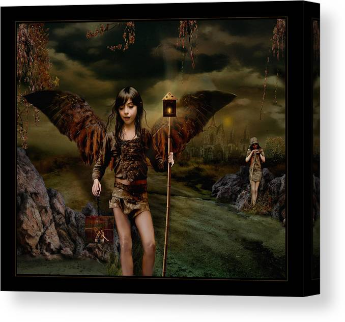 Fairies Canvas Print featuring the photograph Habitantes Nocturnos by Raul Villalba