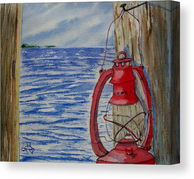 Spin Canvas Print featuring the painting Red Lantern by Spencer Joyner