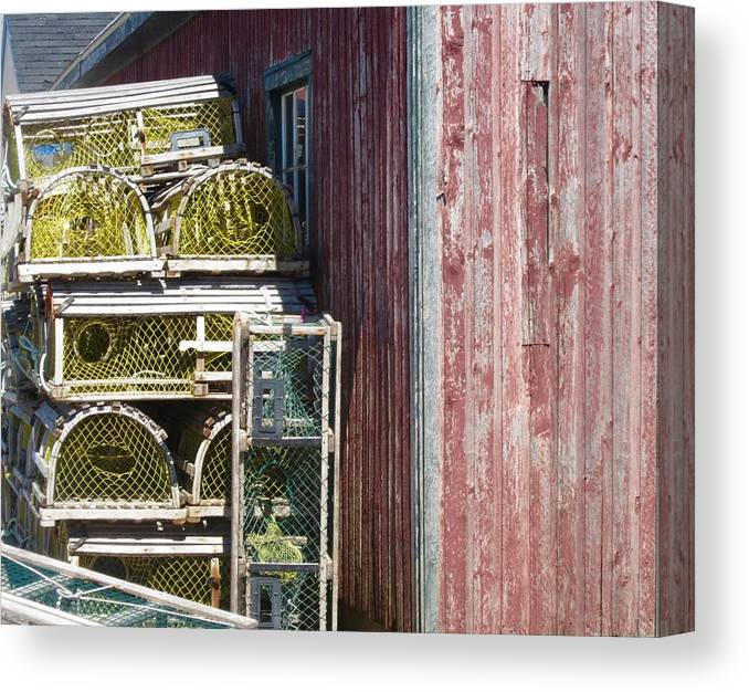Lobster Traps Canvas Print featuring the photograph Lobster Traps by Stephanie Moore