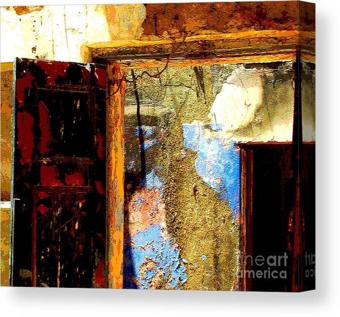 Michael Fitzpatrick Canvas Print featuring the photograph Ancient Wall 3 By Michael Fitzpatrick by Mexicolors Art Photography