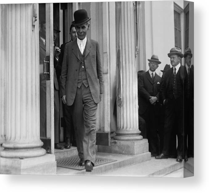 History Canvas Print featuring the photograph Andrew J. Volstead 1860�1947 Is Known by Everett