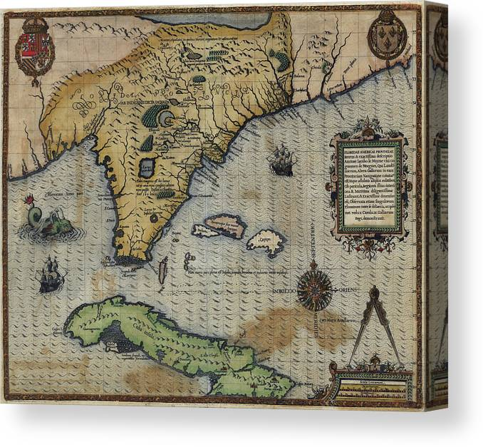 Antique Map Of Florida.Antique Maps Old Cartographic Maps Antique Map Of Florida