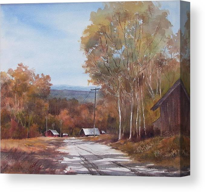 Landscape Canvas Print featuring the painting Awesome Autumn by Tina Bohlman