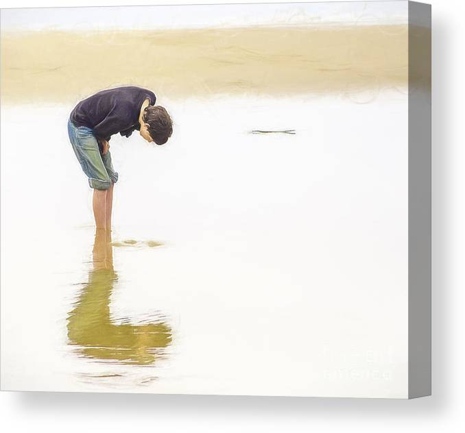 Sand Canvas Print featuring the photograph Beachcomber by Billie-Jo Miller