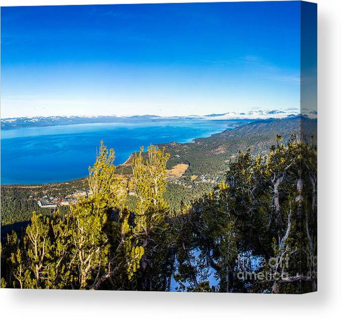 Nature Canvas Print featuring the photograph Heavenly South Lake Tahoe View 1 - Right Panel by G Matthew Laughton