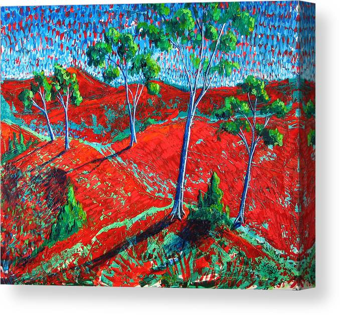 Landscape Canvas Print featuring the painting Life Carries On by Rollin Kocsis