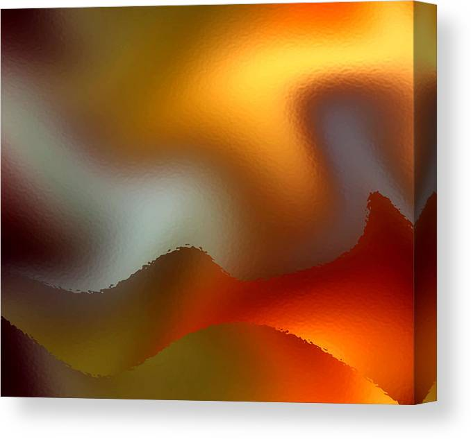Abstract Canvas Print featuring the digital art Luminous Waves by Ruth Palmer