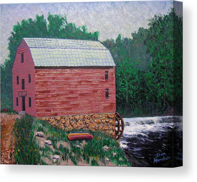 Gristmill Canvas Print featuring the painting Nashville Gristmill by Stan Hamilton