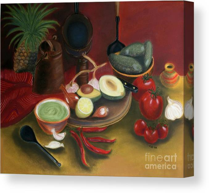 Epainting Canvas Print featuring the painting Pepare Dinner by Christiane Schulze Art And Photography