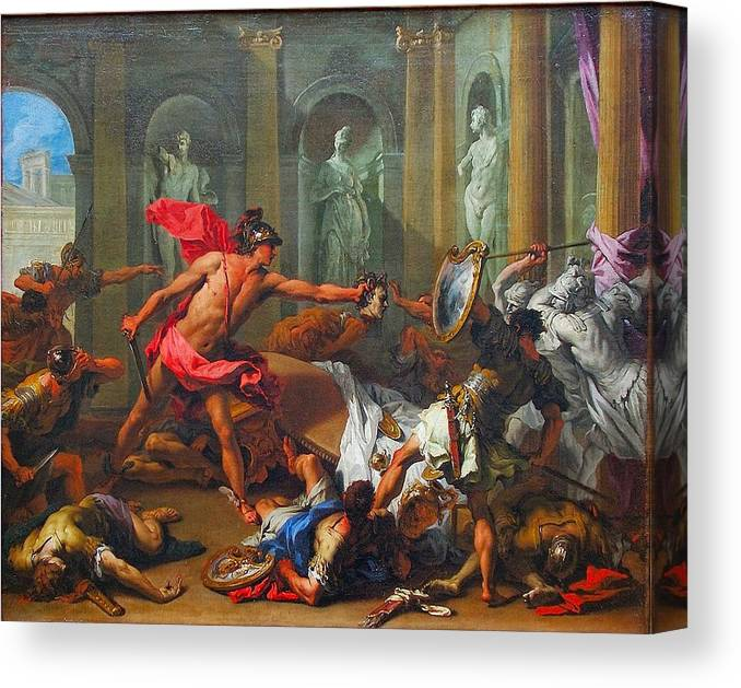 Perseus With The Head Of Medusa Canvas Print