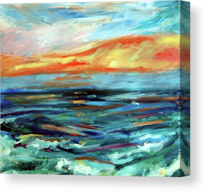 Donna Crosby Canvas Print featuring the painting Plein Air Upgrade IIi by Donna Crosby