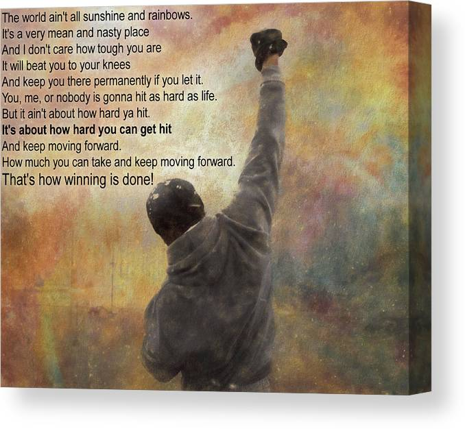 Rocky Balboa Inspirational Quote Canvas Print Canvas Art