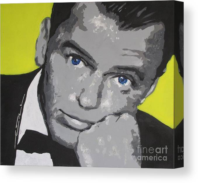 Frank Sinatra Canvas Print featuring the painting The Chrysalid by Eric Dee