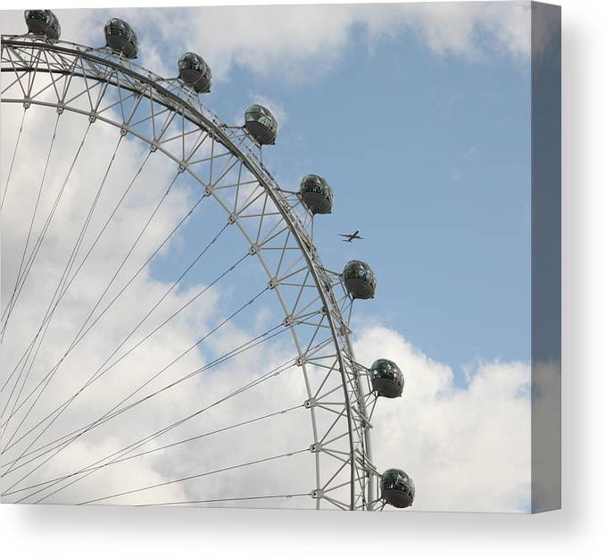 Ferris Canvas Print featuring the photograph The London Eye by Christopher Rowlands