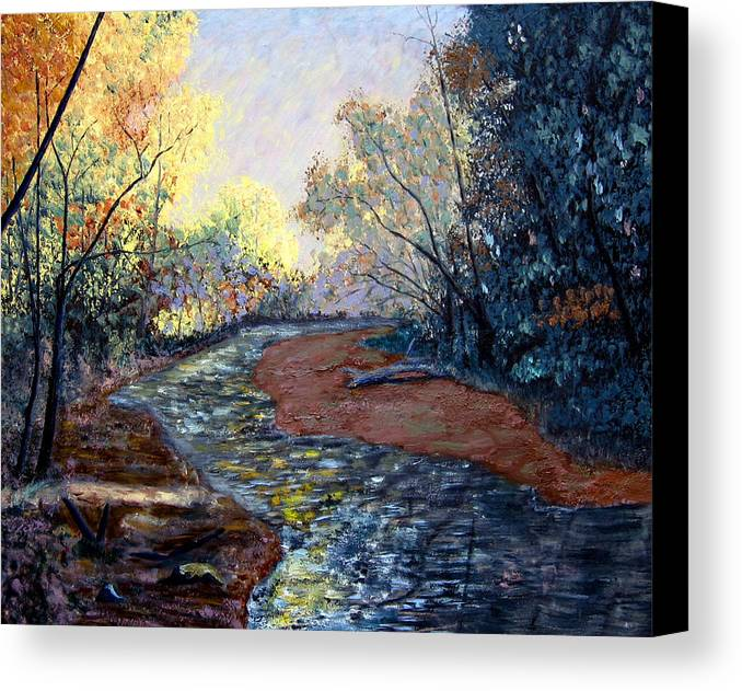 Landscape Canvas Print featuring the painting Angels In Nature by Stan Hamilton