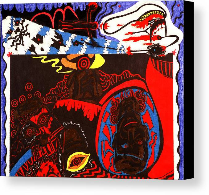 Abstract Canvas Print featuring the print Despair by William Watson