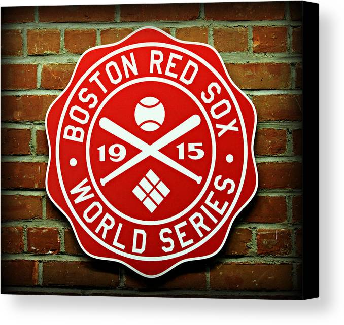 Boston Canvas Print featuring the photograph Boston Red Sox 1915 World Champions by Stephen Stookey