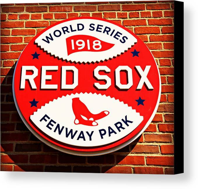 Red Sox Canvas Print featuring the photograph Boston Red Sox World Series Champions 1918 by Stephen Stookey
