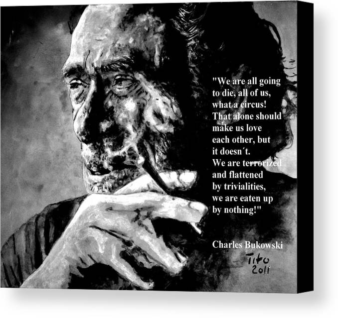 Charles Canvas Print featuring the painting Charles Bukowski by Richard Tito