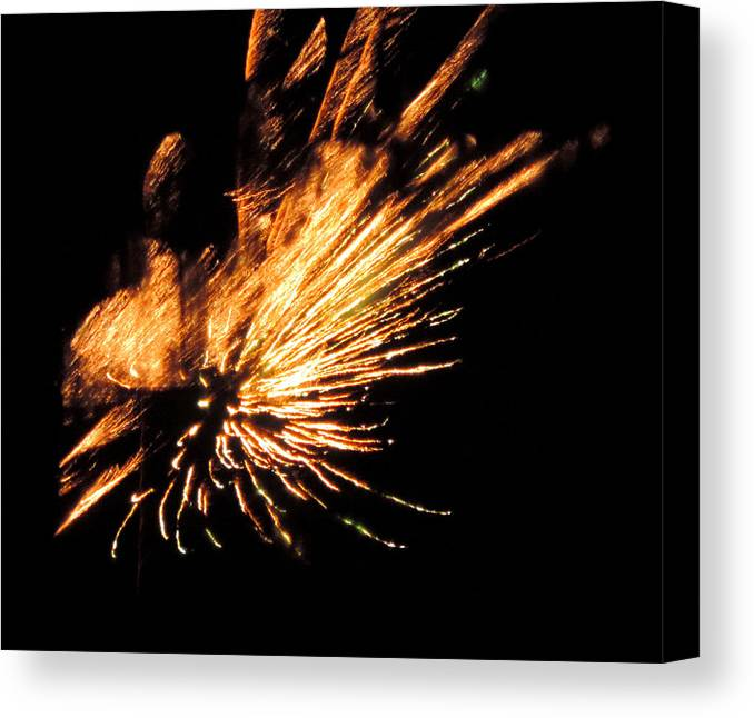 Fireworks Canvas Print featuring the photograph Fireworks 2 by Stephanie Kendall