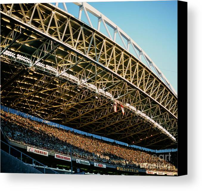 Centurylink Field Canvas Print featuring the photograph Seahawks Stadium 3 by Tracy Knauer